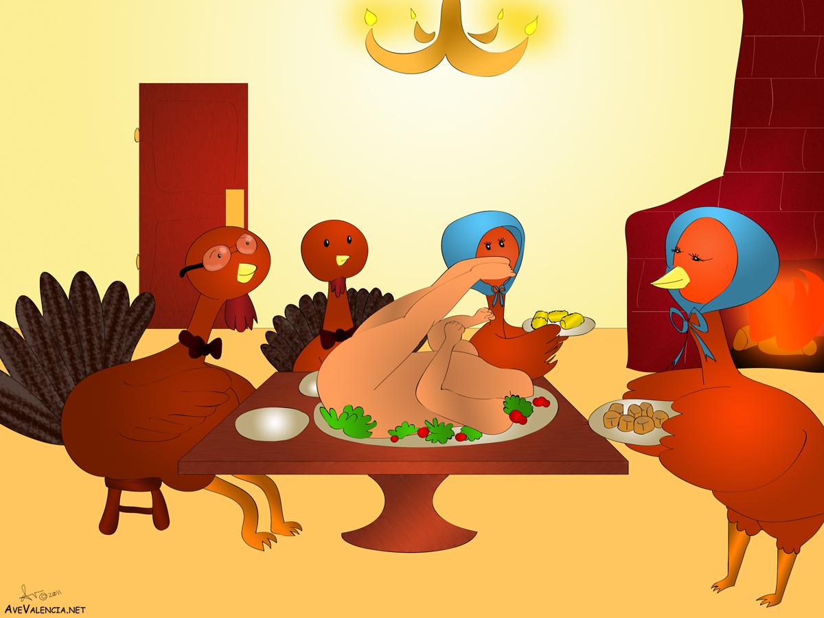 Turkey family celebrates Thanksgiving