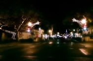 Santa Barbara on a winter night.