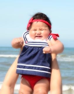 Retrato bebé Ventura playa