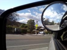 car mirror sky