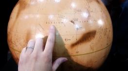 Mars globe Elysium Planitia