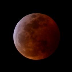 reddish full moon